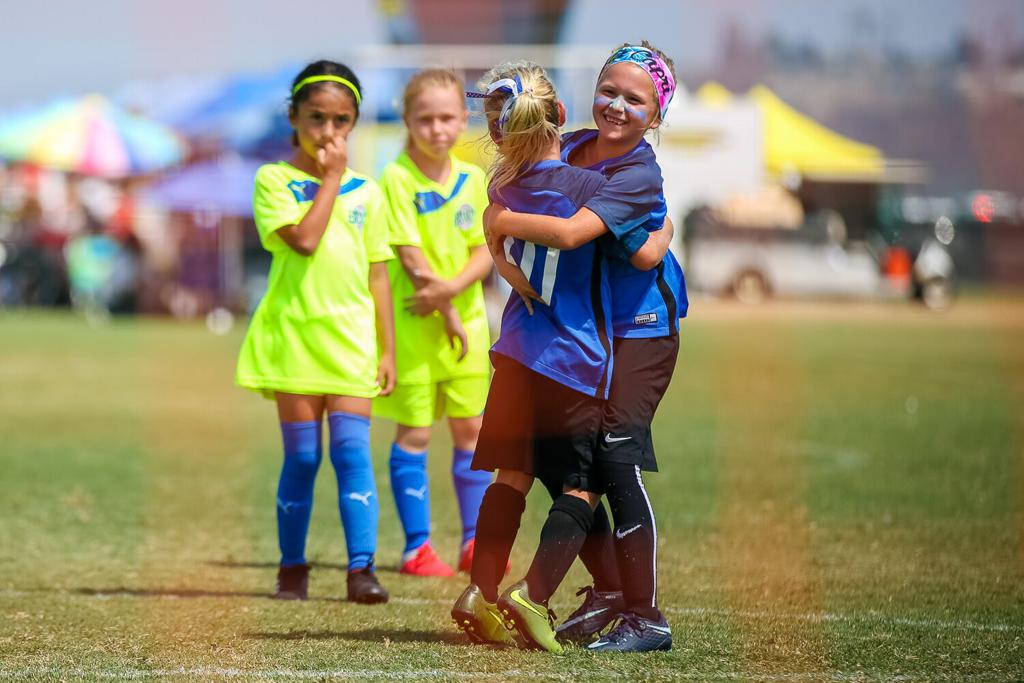 youth soccer san antonio. girls celebrating