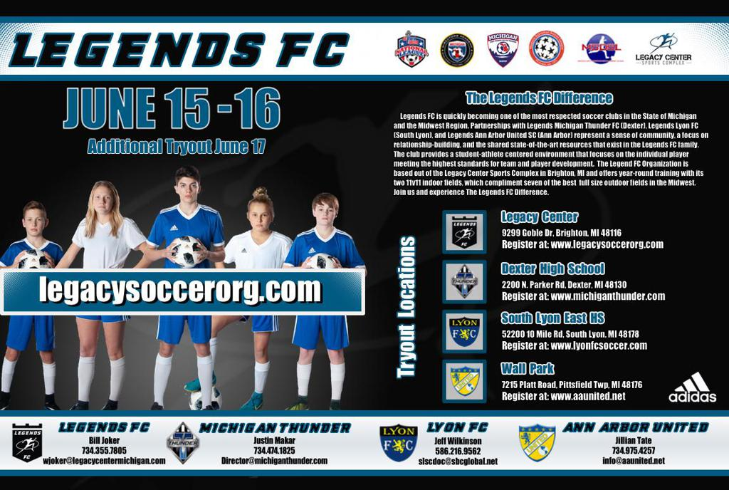 Legends FC Tryouts