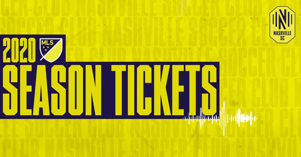 2020 MLS Season Tickets for Nashville SC