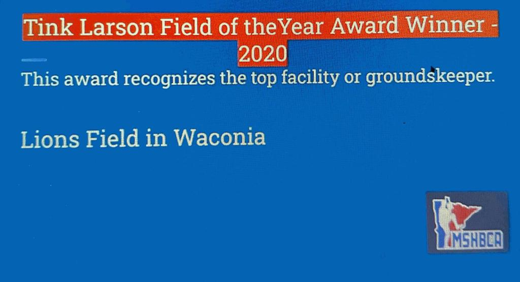 2020 Tink Larson Field of the Year