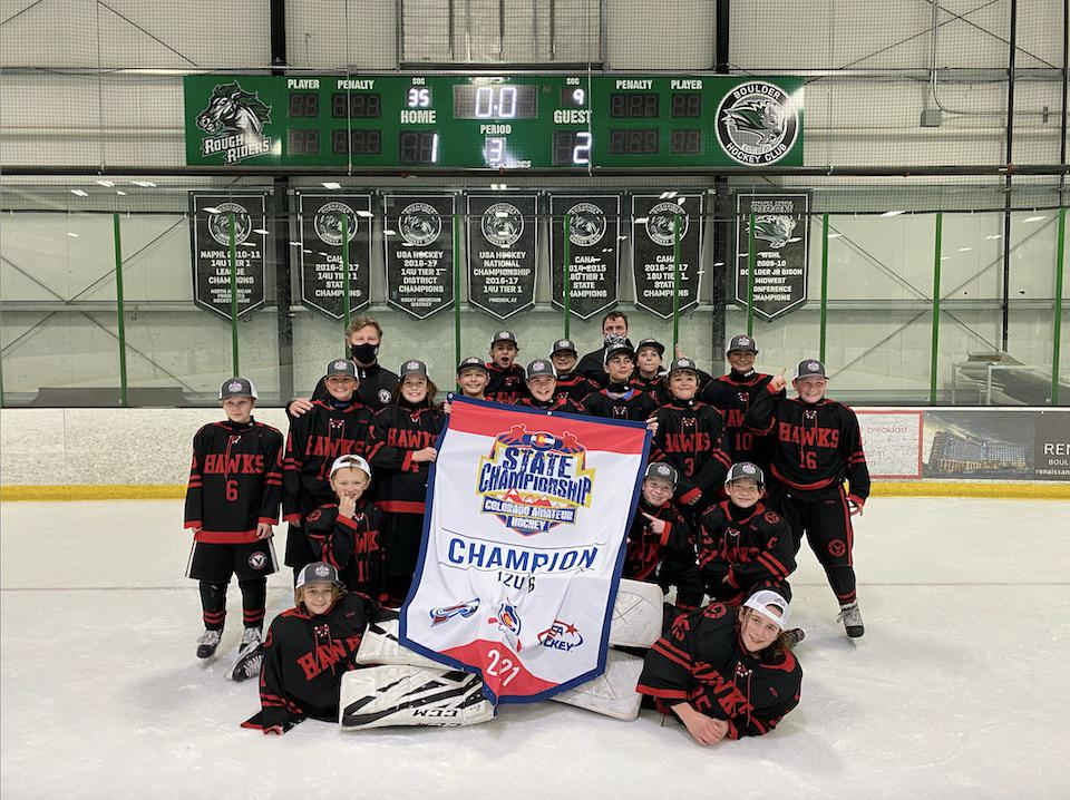 12U B champion Littleton Youth Hockey Association