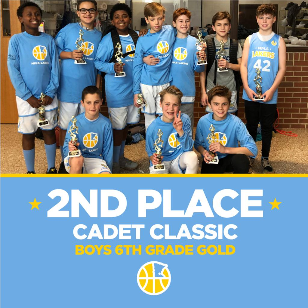 Boys 6th Grade Gold take 2nd at Cadet Classic. Way to go! #MplsLakers #MplsLakersBasketball