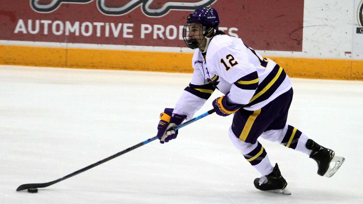 Colby Bukes (12) came up with the Colorado Thunderbirds before embarking on a USHL career. He's now in his sophomore season with Minnesota State Mankato. Photos courtesy of Minnesota State University Mavericks Athletics