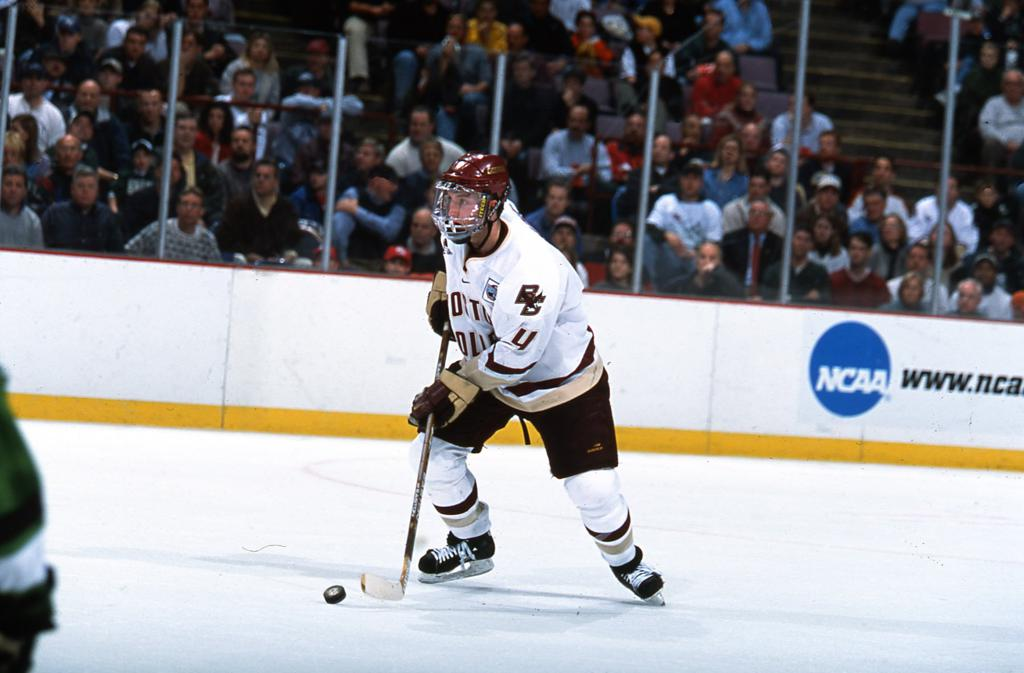 Brooks Orpik playing for Boston College