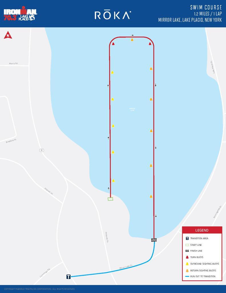 Swim course map IM703 lake placid