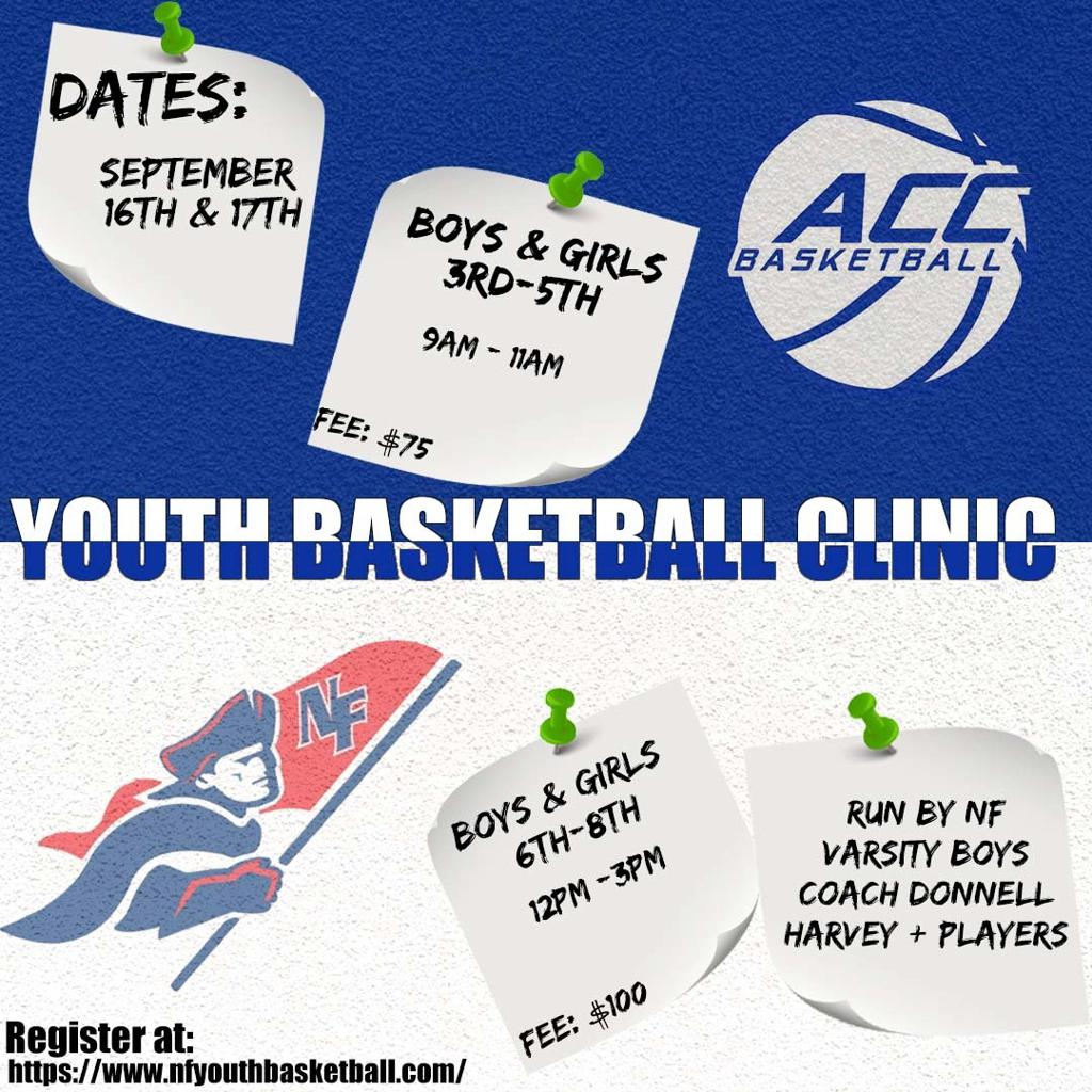 CLICK BELOW TO REGISTER FOR THE NFYB-ACC BASKETBALL CLINIC AT DANBURY WAR MEMORIAL