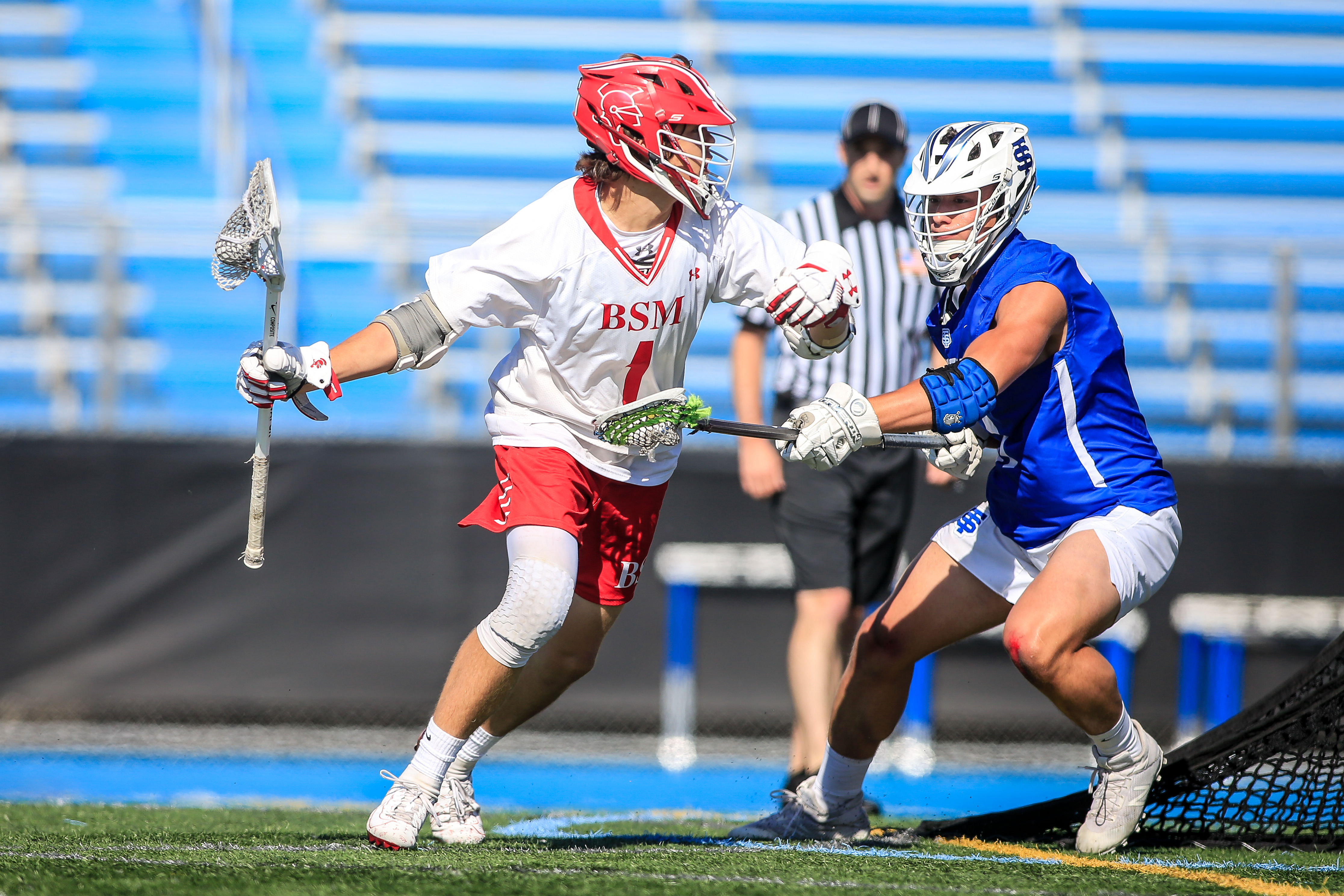 Jack VanOverbeke was a key part of Benilde-St. Margaret's attack in 2019. He'll likely be a key piece for the Red Knights once again next year. Photo by Mark Hvidsten, SportsEngine