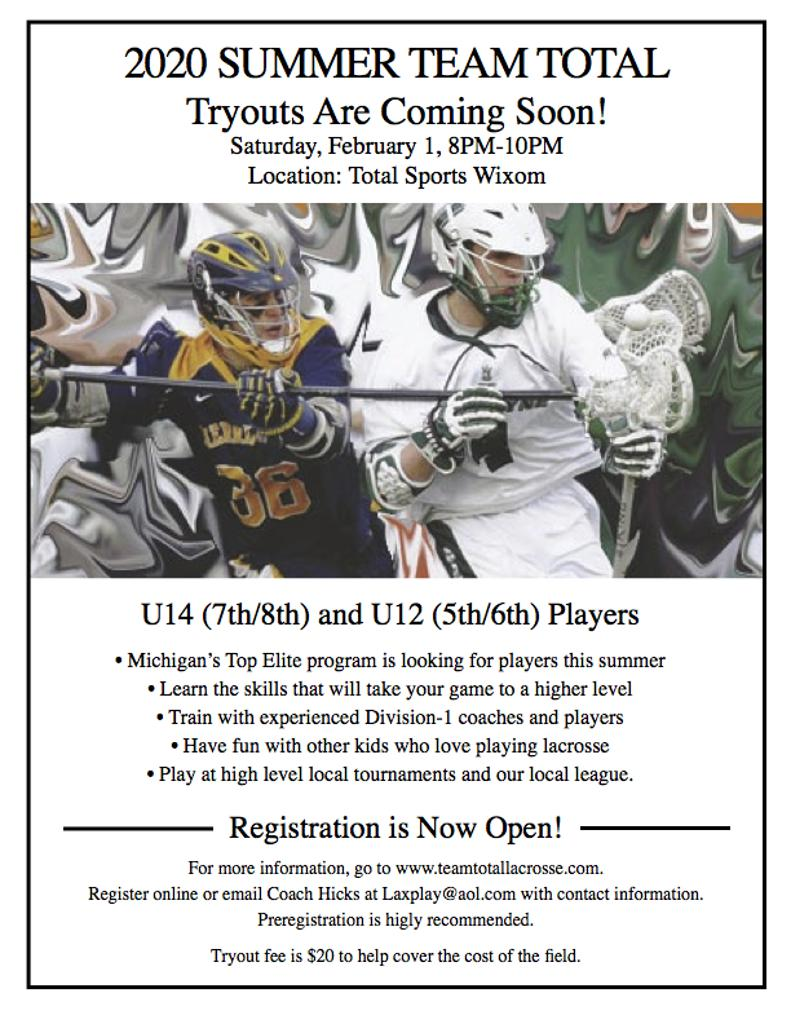 Tryout poster U14