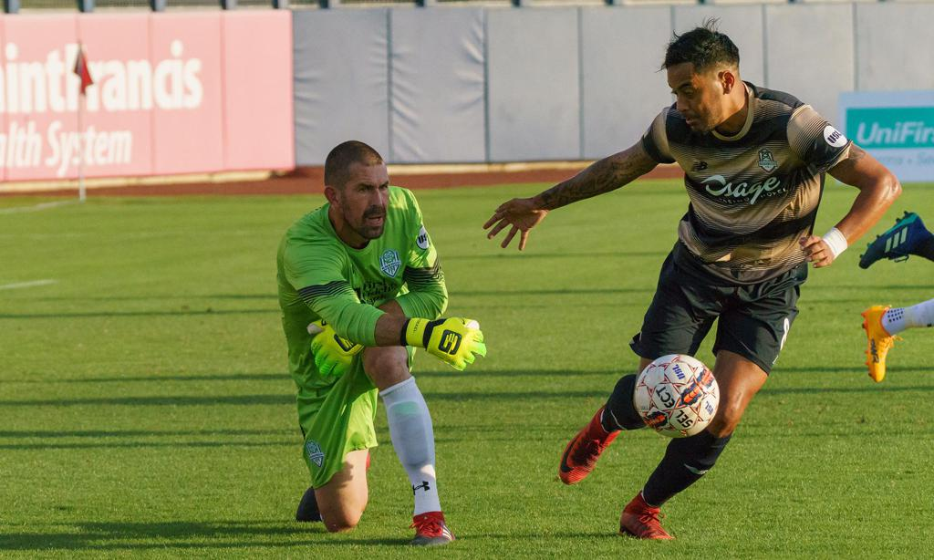 Jhon Pirez and the Roughnecks will be in California Saturday for a meeting with the LA Galaxy II. (Rich Crimi)