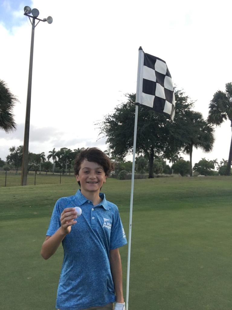 On May 1, 13-year-old Blake Granata of Team Eagles had a hole-in-one at John Prince Golf Course on Hole No. 2 from 99 yards with his 9-iron!