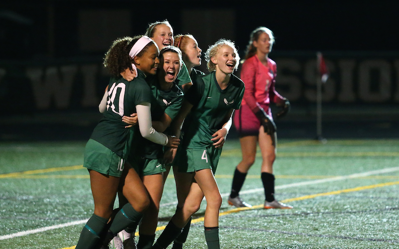 Edina takes on Lake Conference newcomer St. Michael-Albertville in a rematch Saturday with a lot on the line, including a shot at revenge. Photo by Cheryl Myers, SportsEngine