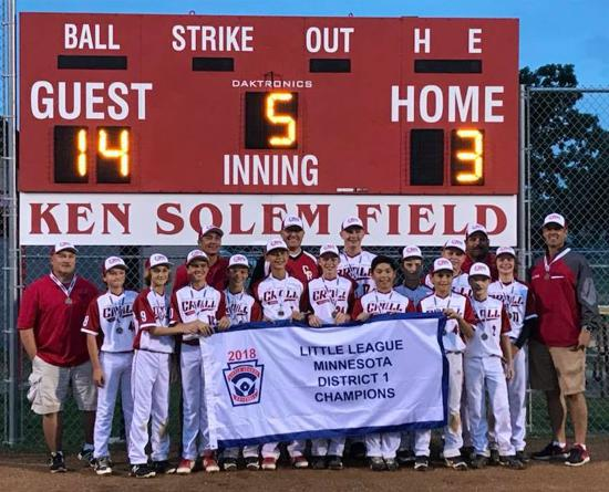 CRALL 12's - District 1 Champs