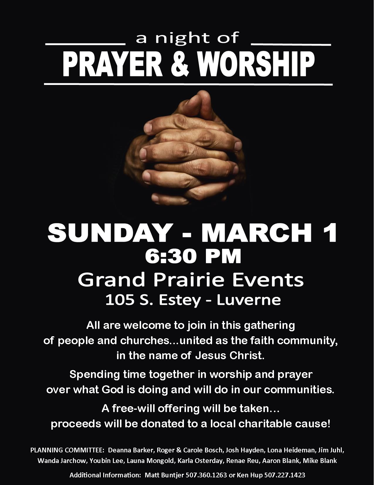 A Night of Prayer and Worship