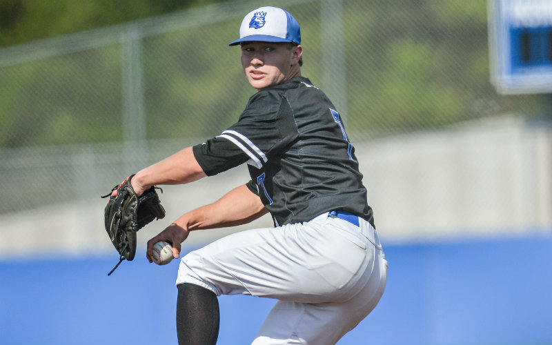 Hopkins pitcher Wyatt Nelson (pictured) was one of two Royals to receive Class 4A all-state honors this spring. Photo by Earl J. Ebensteiner, SportsEngine