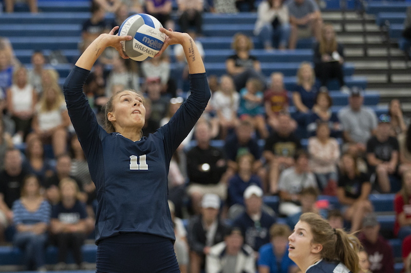 Izzy Ashburn, a senior setter from Champlin Park, helped lead her school to a Class 3A championship over Eagan last week. She joins a cast of 2018 all-state players. Photo by Cheryl Myers, SportsEngine
