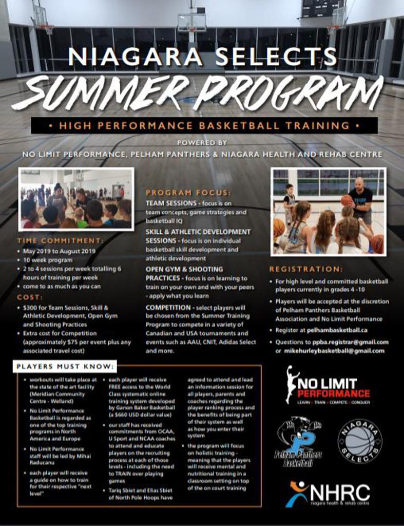 Niagara Selects Summer Training Program