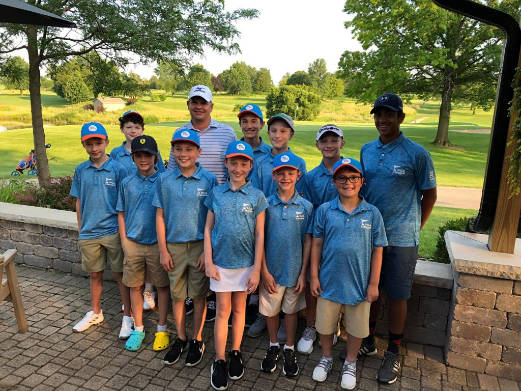Luke pictured with his 2019 PGA Jr. League team.