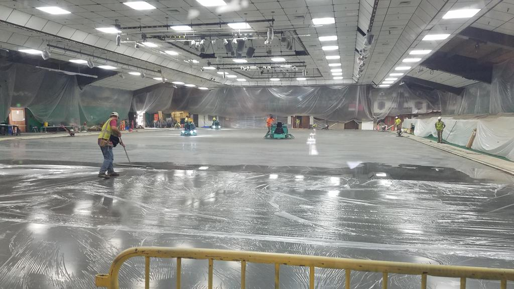 Check out today's picture of the rink remodel!  (Aug 9, 2019)