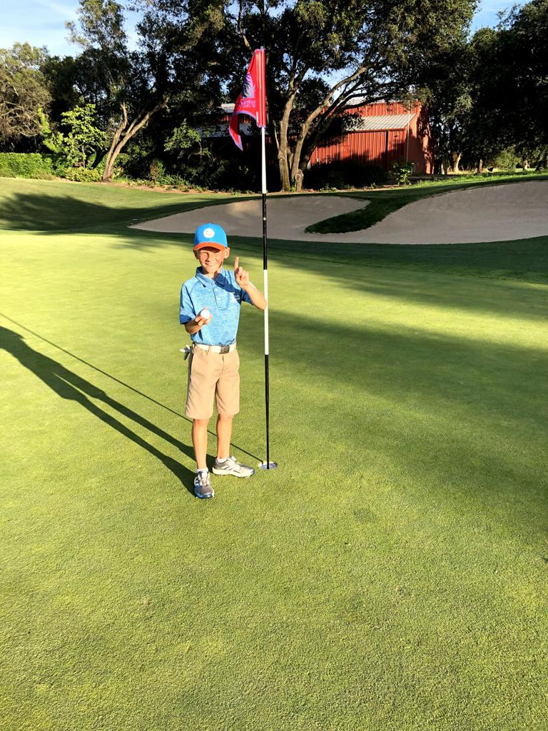 10-year-old Nolan Maymi aced Hole No. 3 at Granite Bay Golf Club on June 5 from 75 yards in his first PGA Jr. League match of the year! Nolan and his partner, Reid, went on to finish 7-under for their 9-hole match and won 2.5 points for Team Cobble.