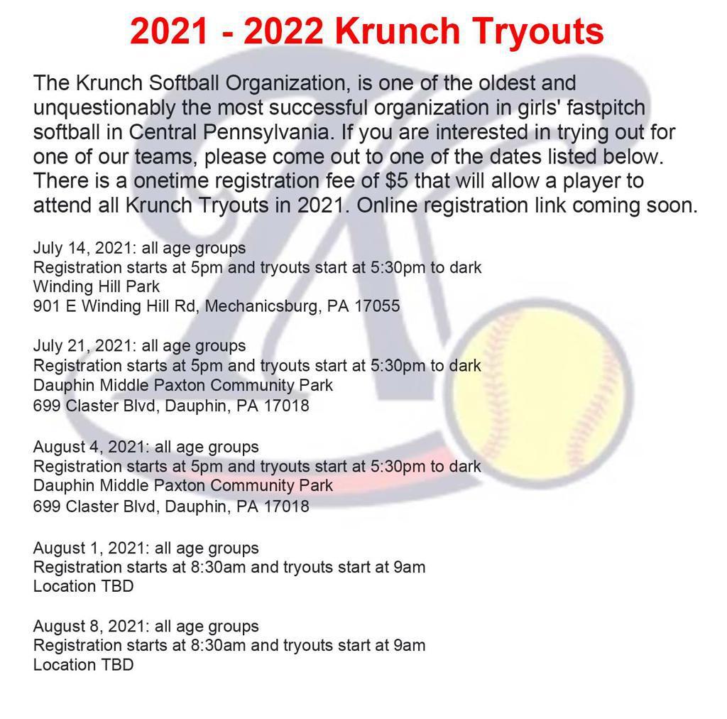 2021-22 Krunch Tryout Info