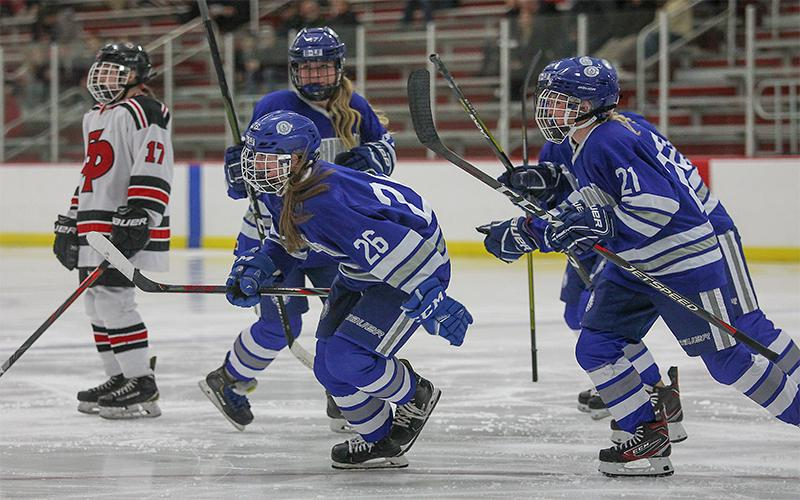 Brainerd/Little Falls reached the Class 2A title game last season, a rare occurrence for non-metro teams. The Warriors face off with the Lightning, another contender, on Friday. Photo by Mark Hvidsten, SportsEngine