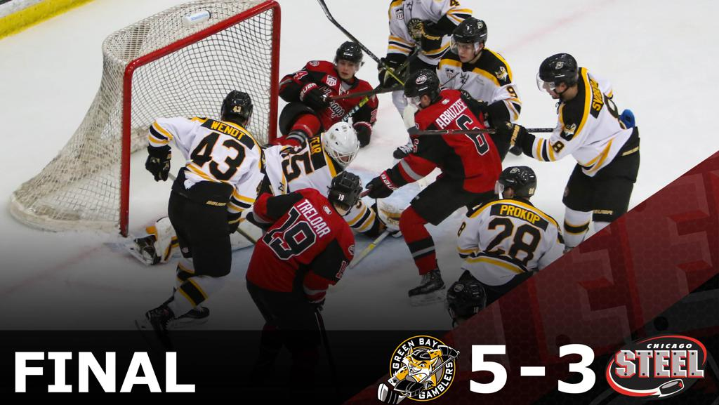 HOT HAND IN THIRD GIVES GAMBLERS 5-3 WIN