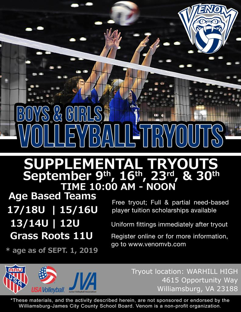 New Supplemental Tryouts in September