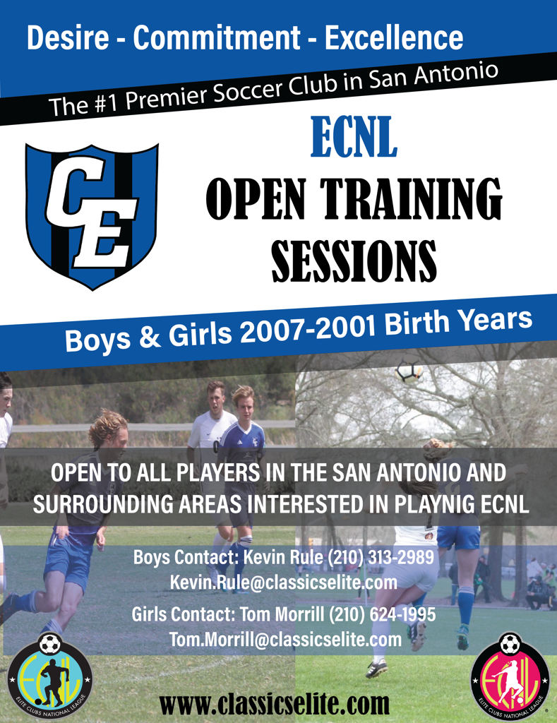 ECNL Open Training Sessions
