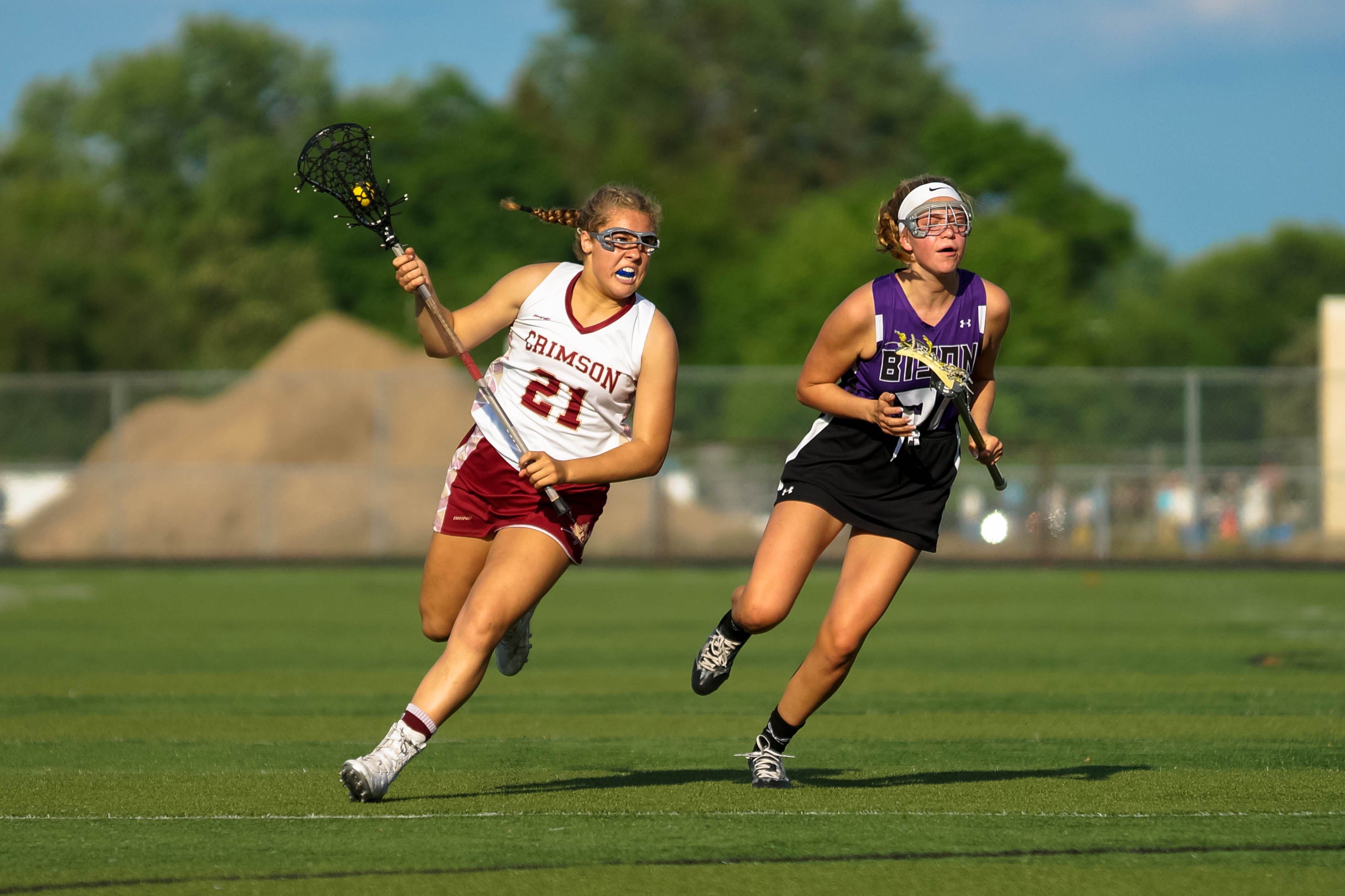 Maple Grove's Tristana Tatur netted three goals in a 9-8 section championship Wednesday over Buffalo. Photo by Korey McDermott, SportsEngine