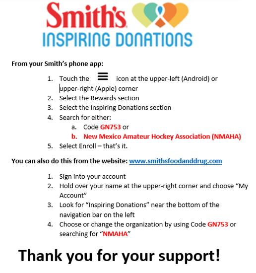 Smith's Inspiring Donations - NMAHA (Code: GN753)