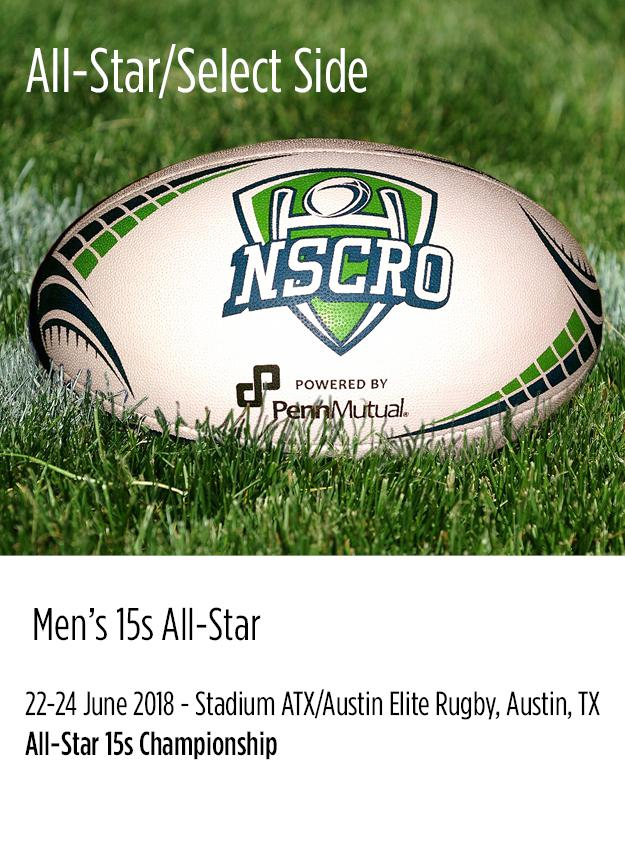 2017-18 NSCRO All-Star and Select Side for Men's and Women's teams