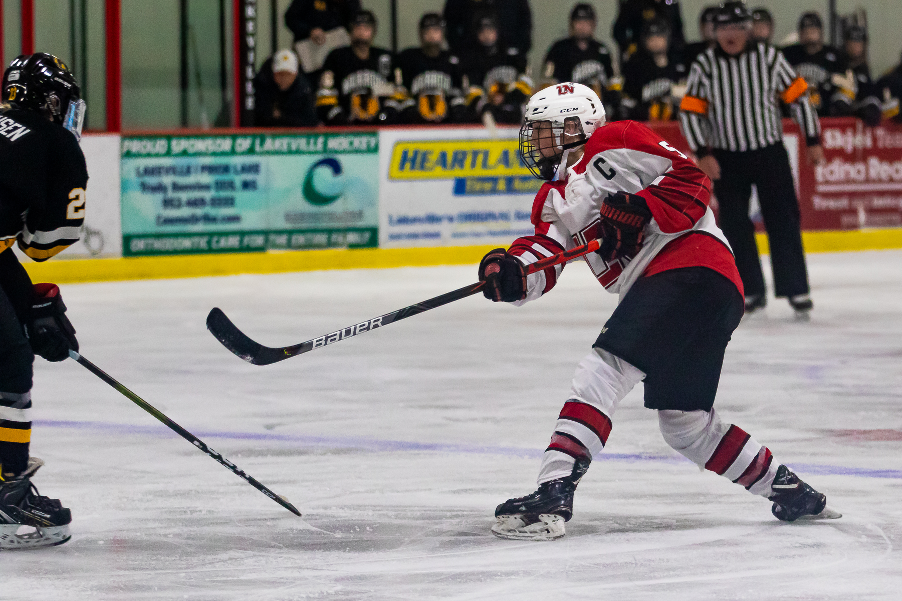 Brooke Power scored Lakeville North's only goal Friday in the Panthers' 4-1 loss to Warroad on Friday night. Photo by Gary Mukai, SportsEngine