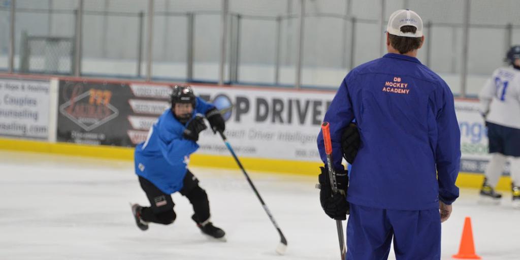 DB Hockey player learning new powerskating skills