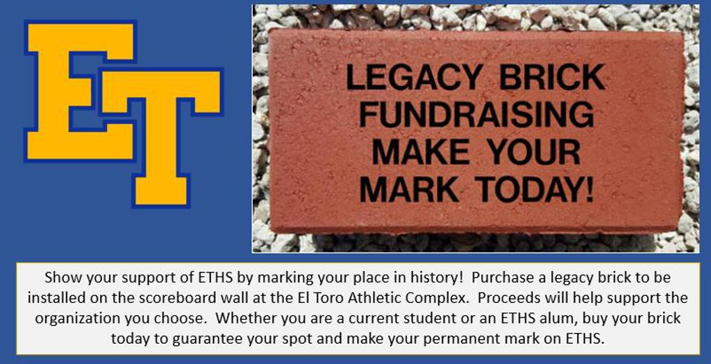 Attention Seniors!  Leave your legacy at ETHS.