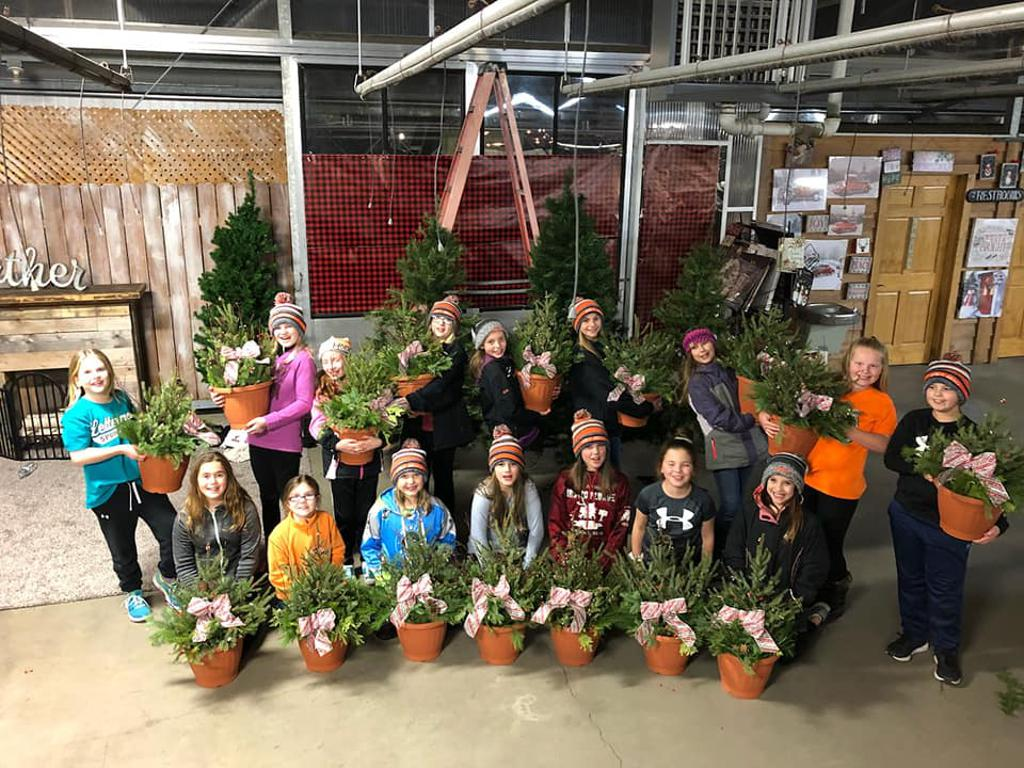 Team building: Spruce Tip planters