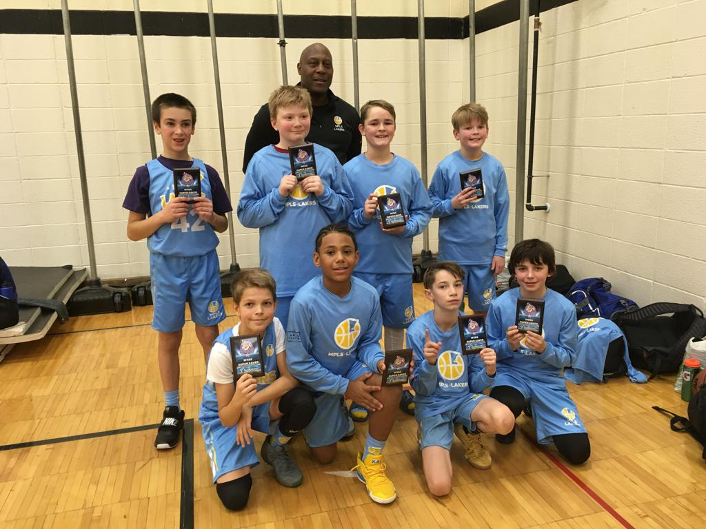 Boys 6th Grade White take 1st Place at Fridley. Way to go Champs! #MplsLakers #MplsLakersBasketball