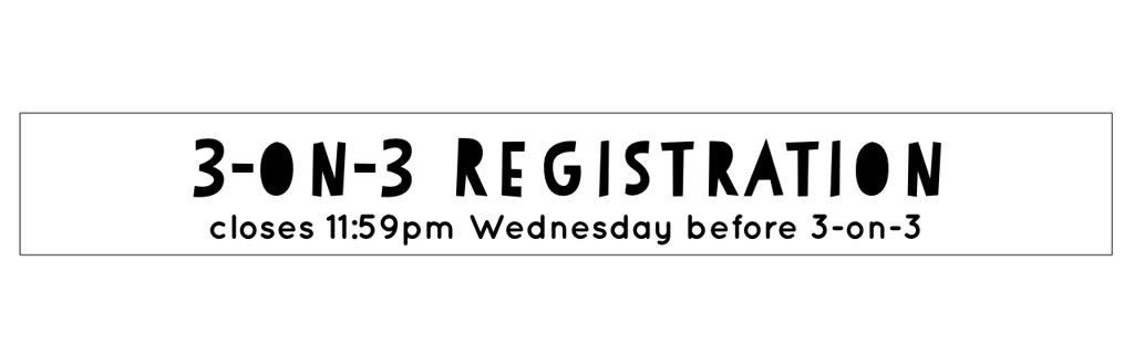 Register for 3 on 3