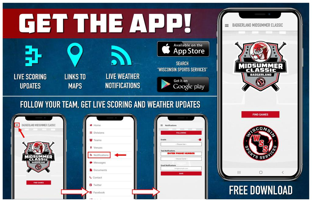 Download the WSS App for Schedules, Scores and More!