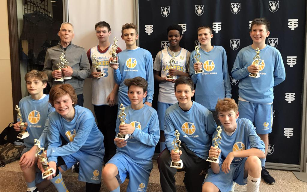 Boys7th Grade Blue pose with their hardware after taking 2rd at Cadet Classic