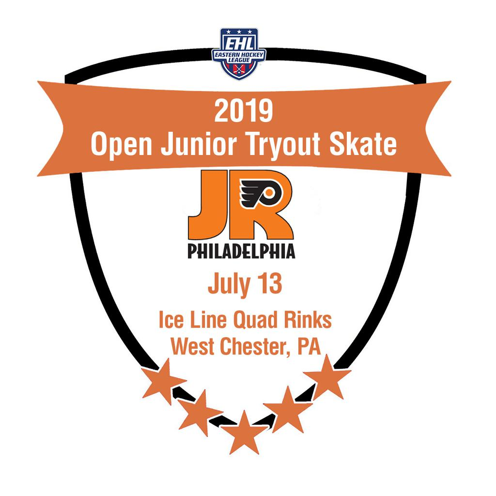 Jr. Flyers EHL Junior team final open tryout skate July 13