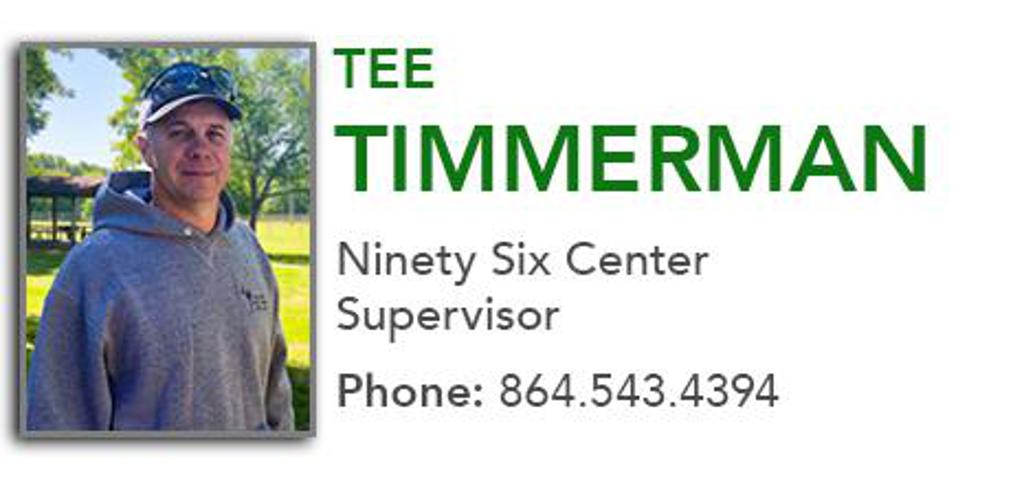 Tee Timmerman, Ninety Six Center Supervisor