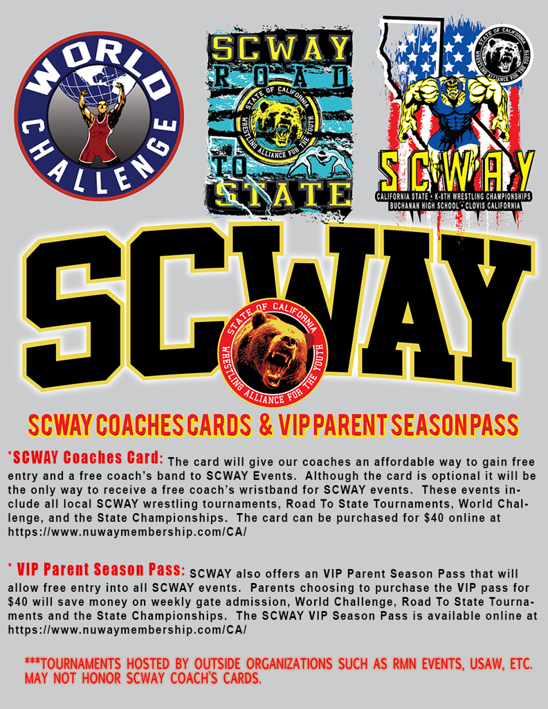 SCWAY Coaches Card