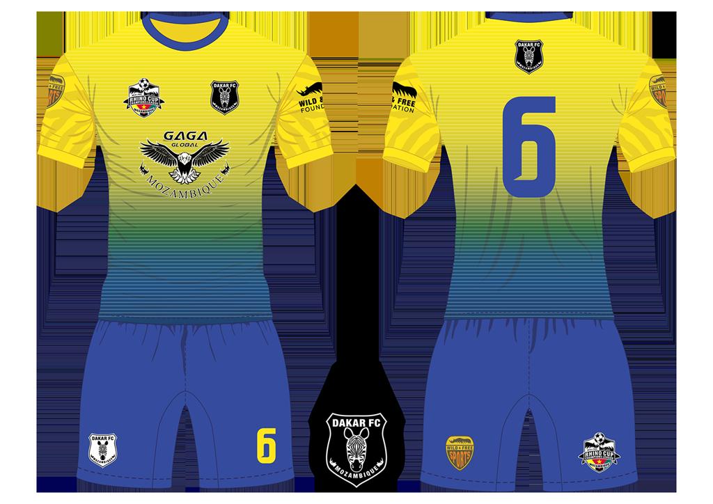 Dakar FC Zebras Soccer Team Kit RCCL 2019