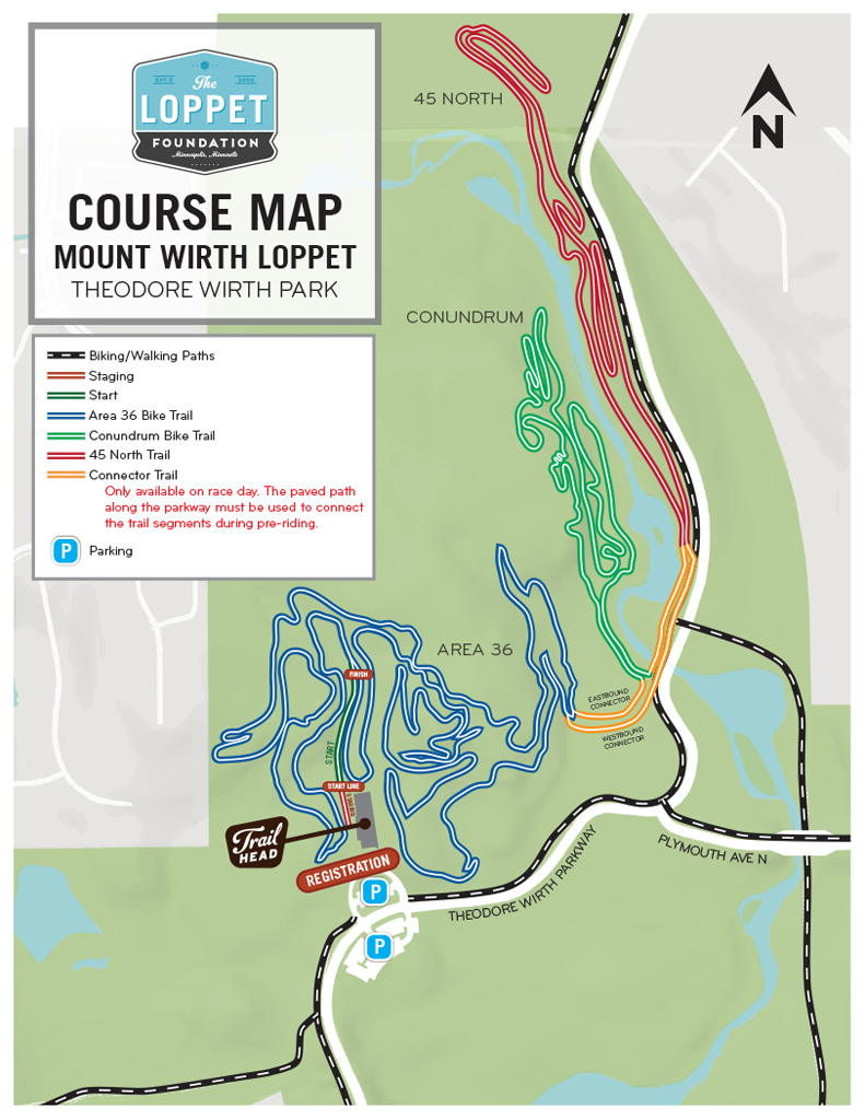2019 Mount Wirth Loppet Course Map
