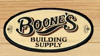 Sponsored by Boone's Building Supply