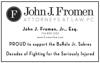 Sponsored by John J. Fromen Attorneys at Law. PC