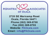 Sponsored by Pediatric Associates of Ocala