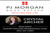 Sponsored by PJ Morgan Realty - Crystal Archer