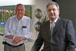 ISF President Don Porter (left) and IBAF President Riccardo Fraccari