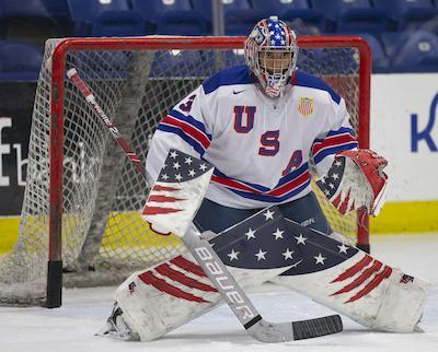 Kaidan Mbereko. Photos by Rena Laverty / USA Hockey's NTDP